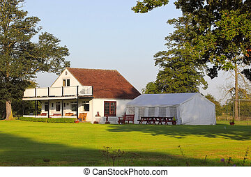 cricket clubhouse - a rural cricket clubhouse in england