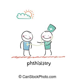 phthisiatry . Fun cartoon style illustration. The situation...