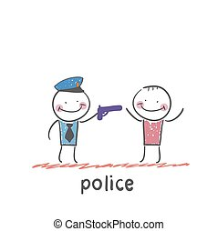 police. Fun cartoon style illustration. The situation of...