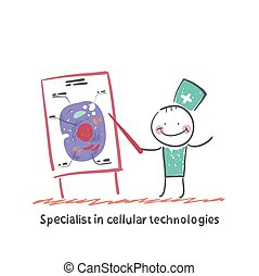 Specialist in cellular technologies speaks cells Fun cartoon...