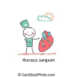 Surgeons Fun cartoon style illustration The situation of...