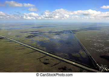 Everglades - Aerial view of the Florida Everglades