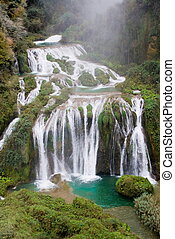 Marmore waterfalls, Italy - The three jumps of Marmore...