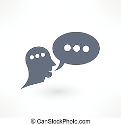 Chat, dialogue and communication icon Logo design