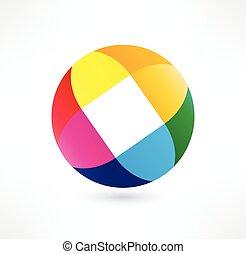 Business Abstract Circle icon.  Design logo.