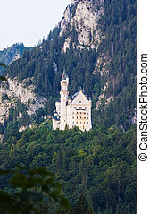 Neuschwanstein castle - Famous Neuschwanstein castle in...