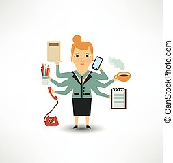 Secretary performs many actions