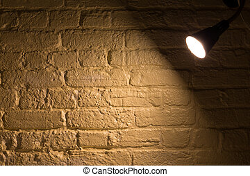 Spotlight on a wall