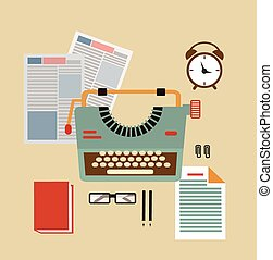 desktop typists illustration illustration