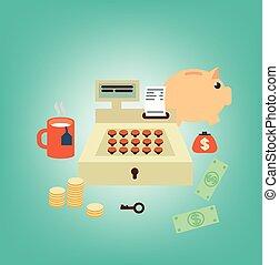 cash register seller