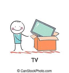 man bought a TV