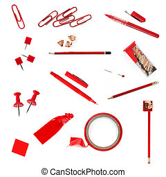 Red Office Supplies