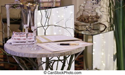 Table for signature - Place on wedding ceremony for signing...