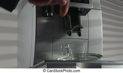 Espresso coffee machine in the office