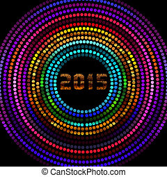 Scintillating New Year 2015 - An abstract illustration on...