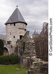 Castle in Maastricht - Castle tower in Maastricht,...