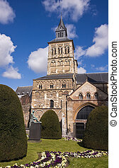 Medieval cathedral in Maastricht (Netherlands) with nice...