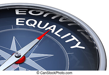 equality - 3D rendering of a compass with a equality icon
