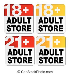 adult store signs - suitable for store signs