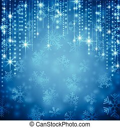 Christmas blue abstract background. - Blue winter abstract...