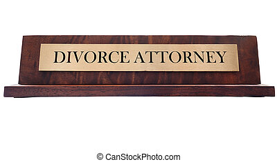 Divorce Name plate - Wooden nameplate with Divorce Attorney...