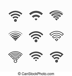Wi-Fi icons illustration