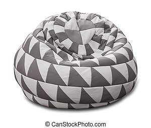 Bean bag - Flexible and adjustable seat bean bag isolated on...