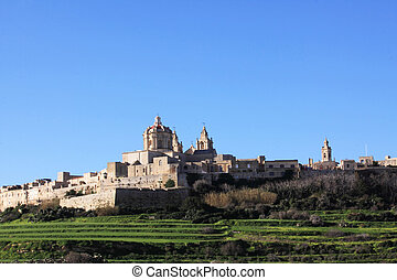 mdina - view of mdina in the maltese islands