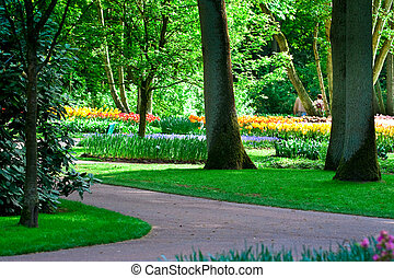 Keukenhof Park (The Netherlands) in month of May