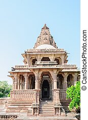 Ancient rock curved temples of Hindu Gods godess - Ancient...
