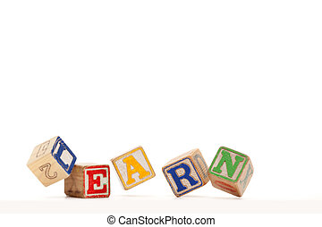 Learn - Active learning - falling blocks with slight motion...