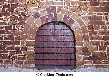 Antique doors, gates Portuguese castle Silves