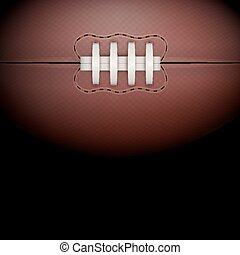 Dark Background of rugby ball Vector Illustration - Dark...