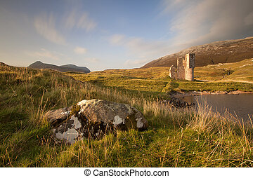 Ardvreck Castle, Scotland - Ardvreck Castle on the shores of...