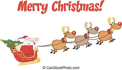 Merry Christmas With Santa Claus - Merry Christmas Greeting...
