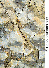 Laminated rocky surface from the riverbed of the mountain...