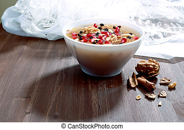 Sweet Food - Noah's Pudding is a Turkish dessert that is...