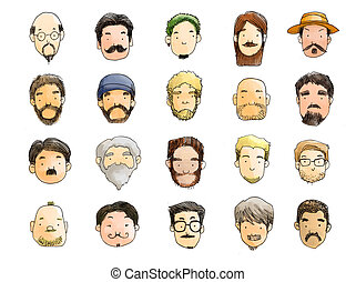 guys with beard illustration - guys with beard style...