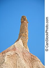 mountain with sexual shape - desert of Bardenas Reales at...
