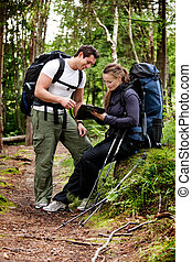 Backpack Couple - A couple on a backpacking camping trip...