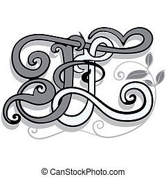 Monogram FL - Two letters woven into a single...