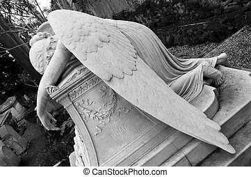 angel - no Catholic cemetery in rome, I photographed this...