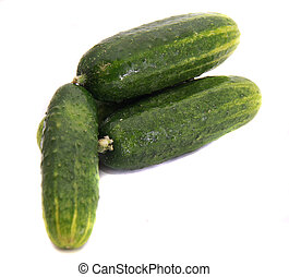 Ripe green cucumbers-natural source of vitamins and freshness