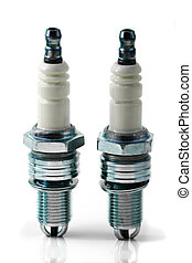 Two spark plugs for car\'s engine