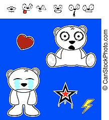 cute polar bear baby cartoon set7 - cute polar bear baby...