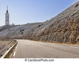 Road to Mont Ventoux - Image of the road to Mont Ventoux on...