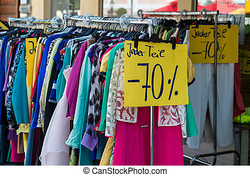 sales in the textile industry - in a shop the sale has...