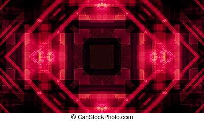 Red Digital Geometric VJ Looping Animated Background