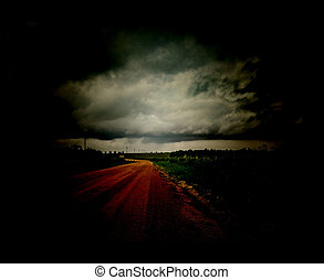 Dark Empty Road - Digital photo manipulation dark empty road...