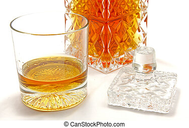 Crystal whiskey glass - Isolated crystal whiskey glass
